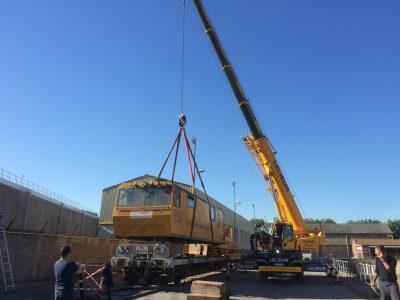 levage d'un locotracteur sur ses boggies à l'aide d'un e LTC 1050