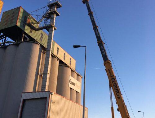 Levage industriel avec notre grue de capacité 350 tonnes