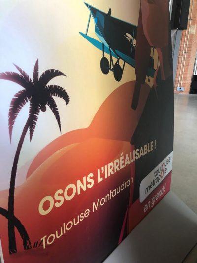 Installation d'un simulateur de vol au sein du musée L'envol des Pionniers à Toulouse