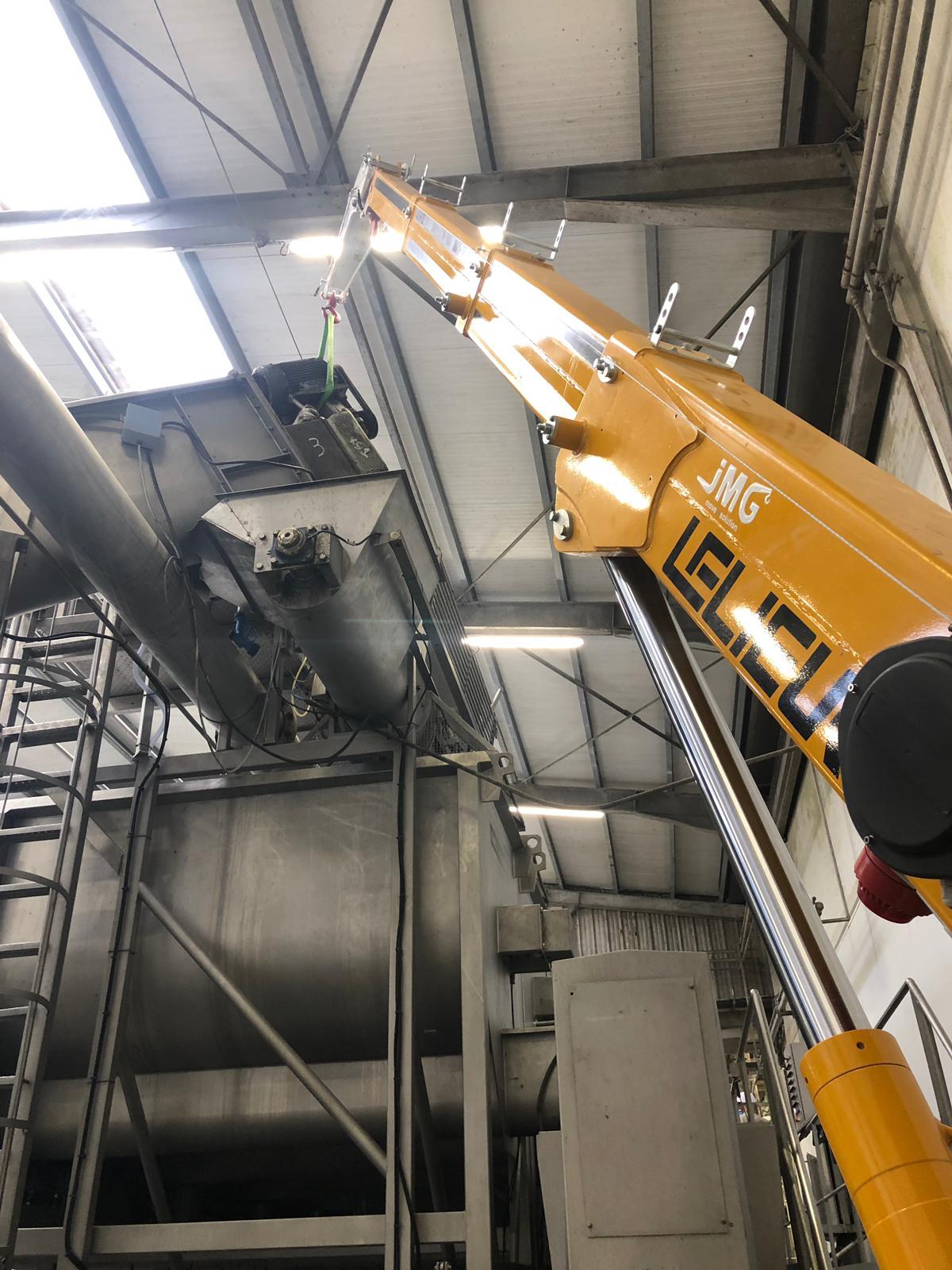 Opération de manutention en usine agro-alimentaire