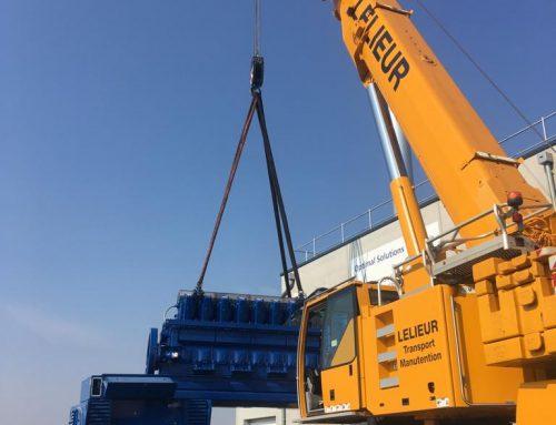 Déménagement d'un groupe électrogène de 26 tonnes