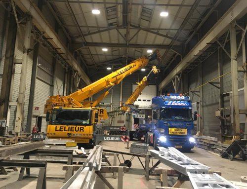 Déchargement d'une machine outil de 36 tonnes