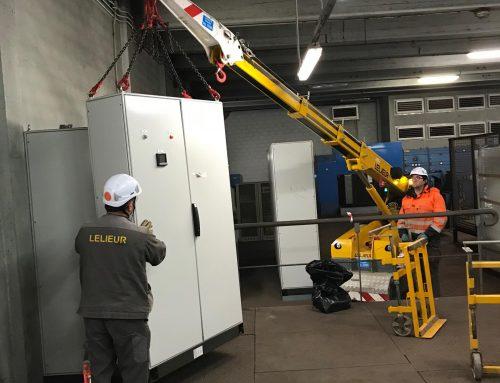 Manutention de coffrets électriques et transformateur