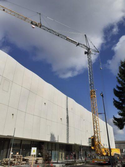 Chantier Lillenium, futur centre commercial, à Lille dans le Nord (Hauts-de-France) avec notre MK88
