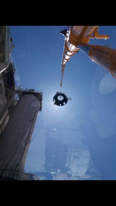 Levage et manutention de pièces de four industriel dans le Boulonnais