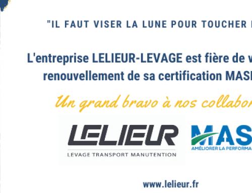 Renouvellement de notre certification MASE pour 3 ans!