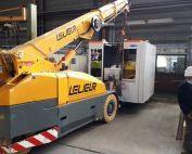 Transport et manutention de centres d'usinage et de tour numérique à Saint-Omer dans le Pas-de-Calais à l'aide d'une JMG 40 tonnes