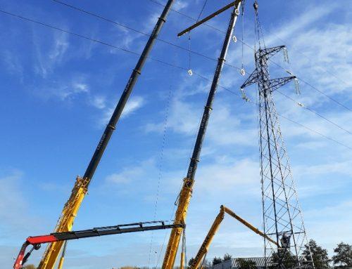 Changement d'un pylône électrique