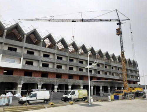 Levage de supports clim au futur Grand Hôtel de Malo-les-Bains