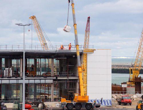 Levages réalisés pour l'extension du Port de Calais