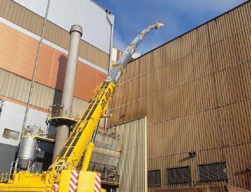 Manutention industrielle dans la sidérurgie à Dunkerque