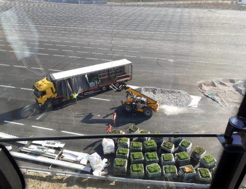Levage d'un toit végétal pour le Port de Calais
