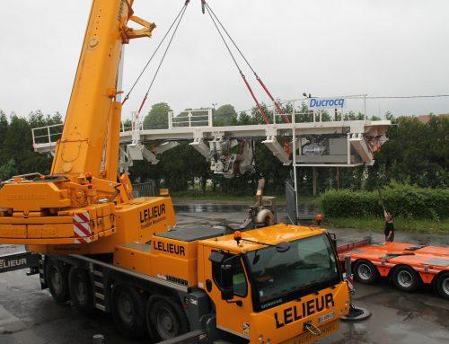 Levage d'équipement lourd de construction ferroviaire