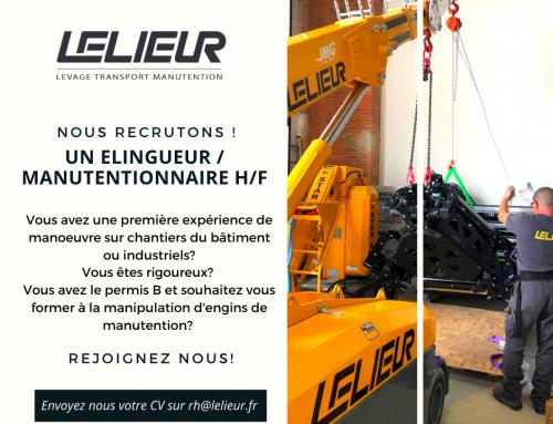 Offre d'emploi – Manutentionnaire / Elingueur H/F