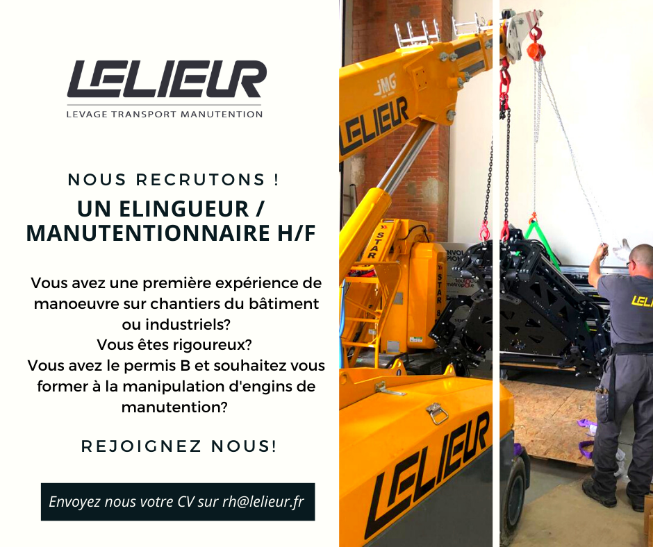 Offre d'emploi manutentionnaire élingeur H/F Hauts-de-France